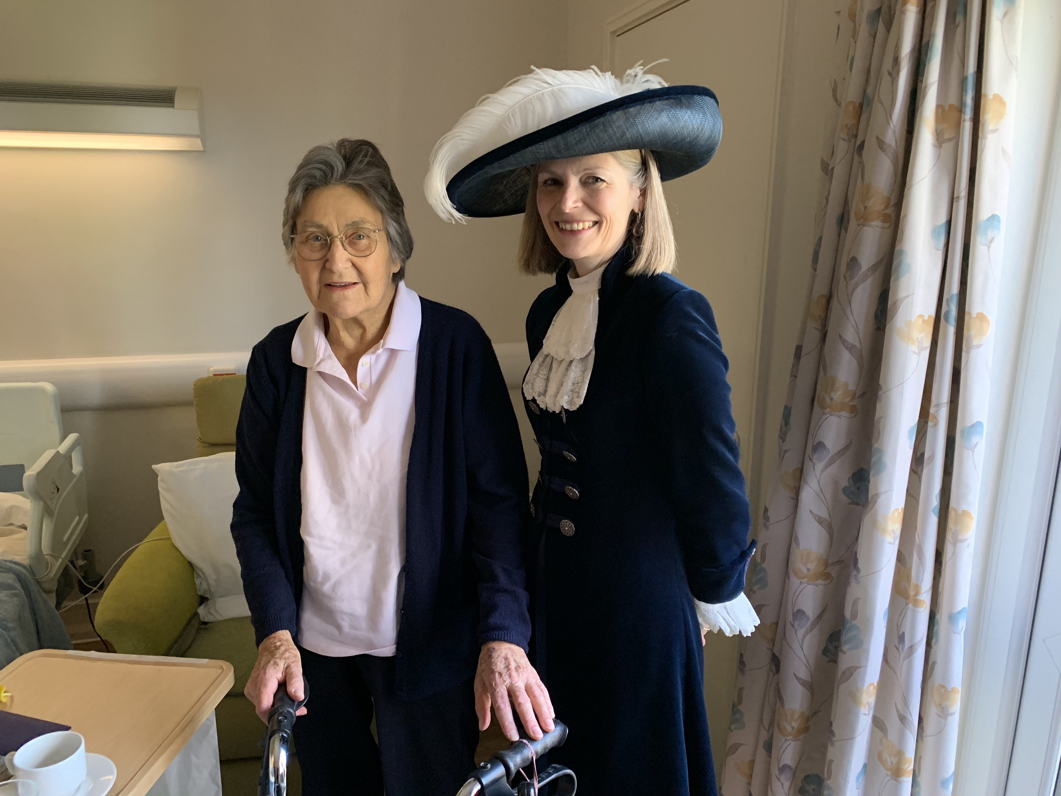 Margaret Phillips meeting the former High Sheriff of Kent, Jane Ashton.