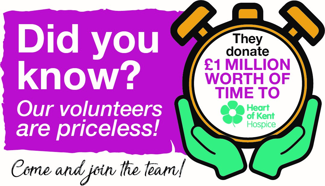 Our volunteers donate over £1 million worth of time