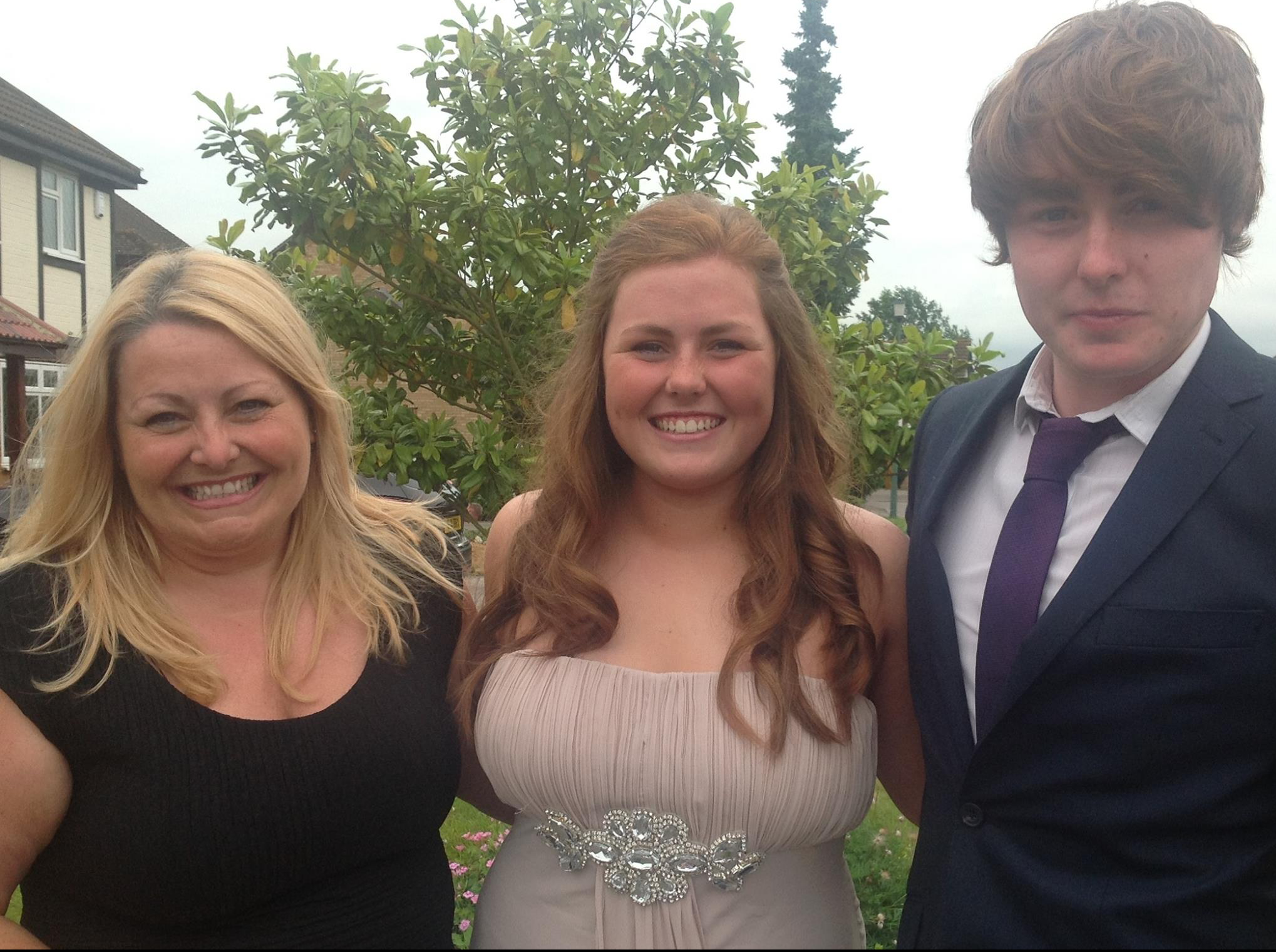 Karen and her 2 children - Annie (19) and Harry (22).